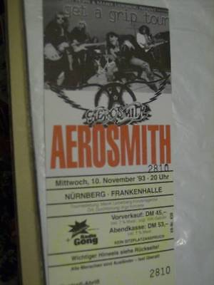 Aerosmith Unused Get A Grip Tour 1993 German Ticket Approx 3.25x6.75 Inches