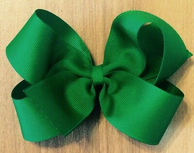 LOT OF 8 GIRL'S SIZE 4 Inch HAIRBOWS Hair Bows Bows - Choose Your Colors