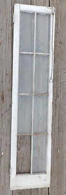 Antique 8 Lite Wood Cabinet Pantry Casement Window Sash Door Old Vintage 680-16