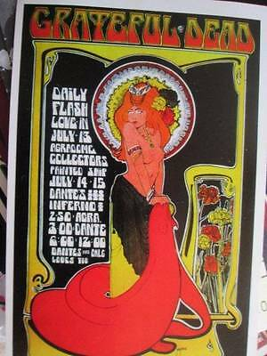 Grateful Dead 1967 Daily Flash Love In Concert Handbill Postcard Approx 4.25x6.5