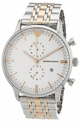 Emporio Armani® watch AR0399 - Silver & Rose Gold - Tone , Multifunction