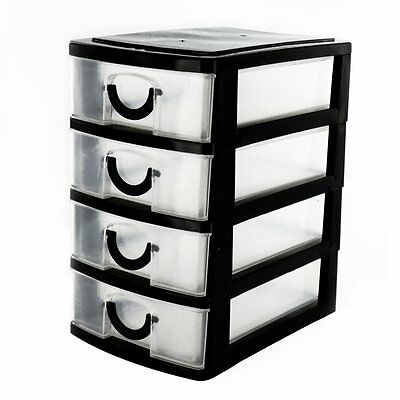 Mini 4 Drawer Storage Unit For Multi Use In Home,office,kitchen Jewelry Box