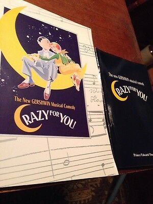 Program/Programme/Playbill CRAZY FOR YOU Prince Edward Theatre,Kirby Ward/Ruthie