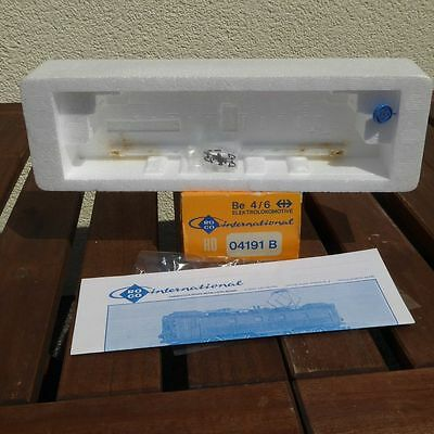 Roco 04191b and Roco 43508 Empty packaging Electric Locomotive Be 4/6 the SBB