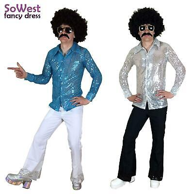 Fancy Dress Mens Costume 70s 1970s 80s 90s Rock Disco Nights Shirt & Flares Suit