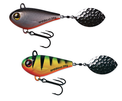 SpinMad JIGMASTER 24g - 5,3cm *gr. Farbauswahl* Jigspinner Tailspinner