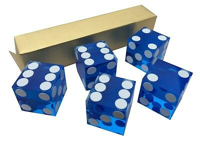 5 x NEW PERFECT 19MM PRECISION FOIL SEALED CASINO DICE / CRAPS