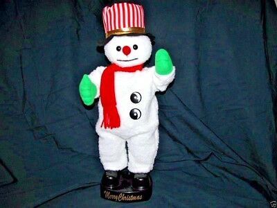 """Snowman Doll 20"""" Singing Jingle Bell Toy Art Office Home Decor Birthday Gift 1"""