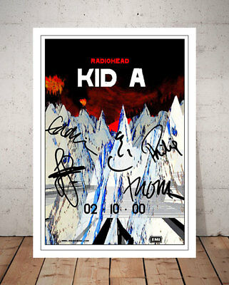 Thom Yorke Radiohead Kid A Autographed Signed Photo Print Poster
