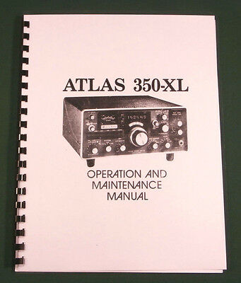 Atlas 350XL Instruction Manual - Premium Card Stock Covers & 28lb Paper!