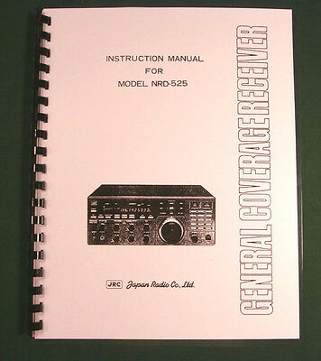 JRC NRD-525 Instruction Manual - Premium Card Stock Covers & 28lb Paper!