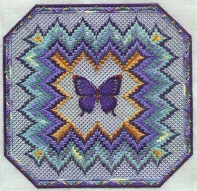 Sampler Collection Bargello & Butterfly Canvaswork Chart Perin 186x186 Stitches
