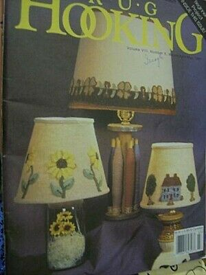 Rug Hooking Magazine March/April/May 1997- Lampshades, Rabbits Fly, Small Orient