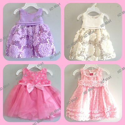 New Baby Girl Wedding/Party/ Birthday Dress from size 0000, 000, 00,0,1,2