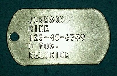 Custom EMBOSSED STAINLESS STEEL IDENTIFICATION DOG Tags Made by a US Veteran.