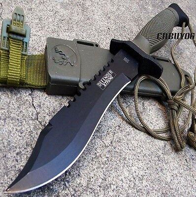 "12"" Heavy Duty Army Tactical Combat Hunting Survival Knife w/ Sheath [5208]"