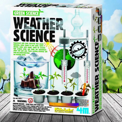 4M Weather Science Experiments Kit | Meteorology Educational Plants Sun Cloud Me