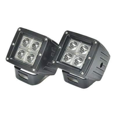 2X 3INCH 16W Square Cube Pods Flood Beam LED Work Light Bumper OffRoad 24W Cree