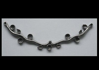 PEWTER CHARM #1488 BRANCH JOINER NECKLACE FITTING (22mm x 73mm) 2 bail CAVITIES