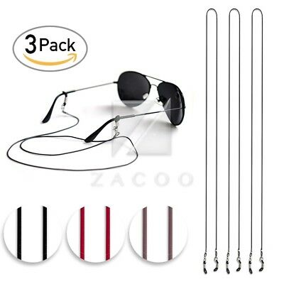 3pcs 27'' PU Glasses Strap Chain Neck Lanyard 70cm for Sports&Reading Keeper