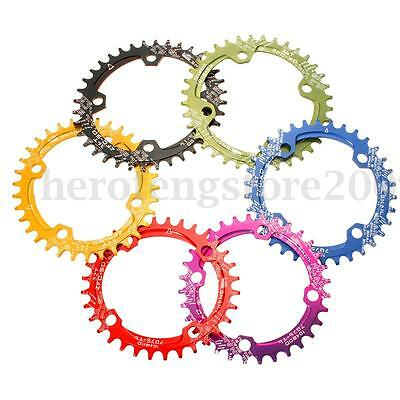 BCD104mm Bike Cycling Narrow Wide Single Speed Oval Circle Chainring 32T 34T 36T