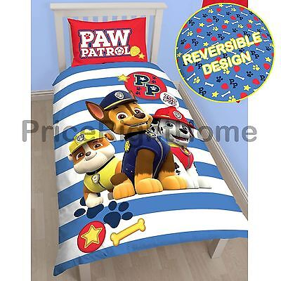 Paw Patrol Pawsome Single Duvet Cover & Pillowcase Set Official Kids Bedding New