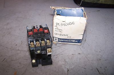 New Telemecanique Lc1D123Jv Contactor 24 Vac Coil 600 Vac 10 Hp 3 Phase