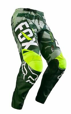 Fox Racing 2016 Adult 180 Vicious Pants Army Green Motocross Dirt Bike SIZE 30