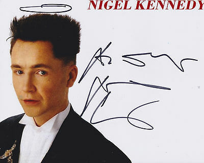 Nigel Kennedy HAND SIGNED 8x10 Photo, Autograph, Violinist, The Four Seasons (B)