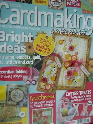 Cardmaking & Papercraft March 2013 Magazine- Men, Mother's Day, Circus, East