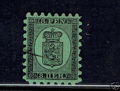 FINLAND #7 COAT OF ARMS black & green VF used