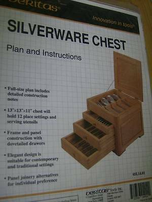 Veritas Silverware Chest Woodworking Pattern #05L14.01 From 1994