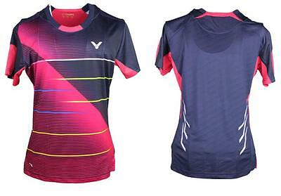 2016 New Victor women's Tops table tennis clothing Badminton Only T-shirt 36013