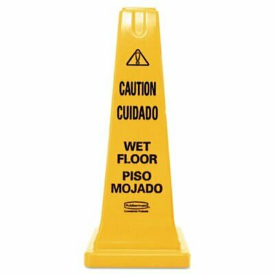 Rubbermaid 6277-77 Multi-Lingual Caution Wet Floor Safety Cone (RCP 6277-77 YEL)