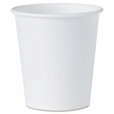 Solo Cup Company White Paper Water Cups, 3 oz, 5000 Cups (SCC 44CT)