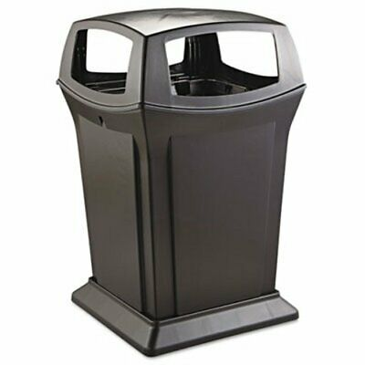 45 Gallon Ranger Garbage Can with Four-Way Open Access, Black (RCP 9173-88 BLA)