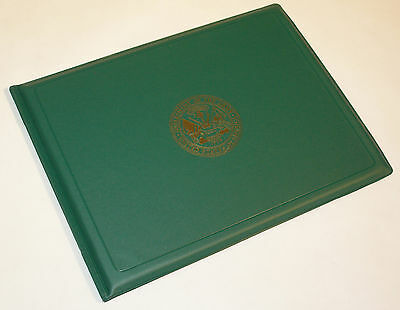 Military Award Certificate Binder Green with Army Seal 8.5 x 11 7510-00-755-7077