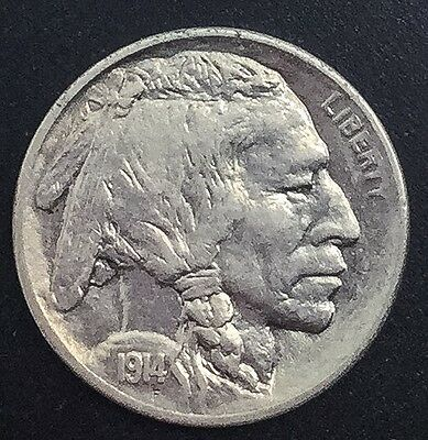 1914  S  San Francisco Buffalo  Nickel Very Nice Coin Full Horn