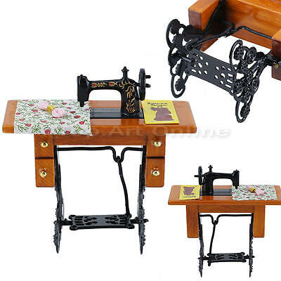 Doll House Miniature 1:12 Scale Dressmakers Accessory Treadle Sewing Machine
