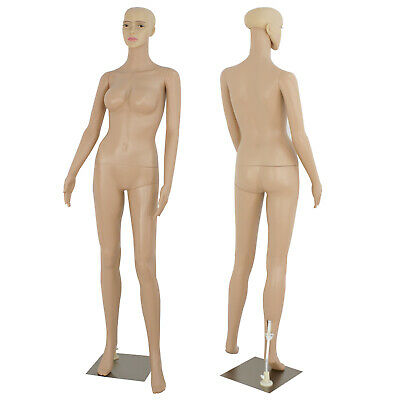 Female Mannequin Realistic Display Head Turns Dress Body Form Show Model W/Base