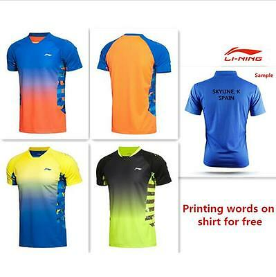2016 Li Ning Outdoor sports men's Tops tennis/badminton Clothes Only T shirts