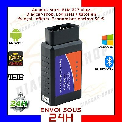 Interface diagnostique multimarque ELM327 Bluetooth  OBD2 Android WINDOWS Neuf