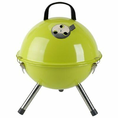 BBQ Collection Picknickgrill Kugelgrill Holzkohlegrill grün, 31.5x42.5 cm