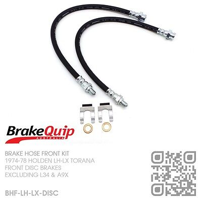 Brakequip-Disc Brake Hose Front Kit With Clips [1974-78 Holden Lh-Lx Torana]