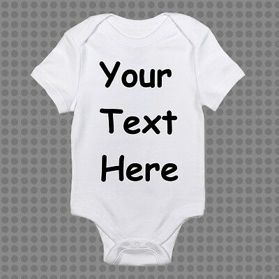 Personalised Baby Romper Bodysuit Custom Design Your Own Text +FREE EXPRESS POST
