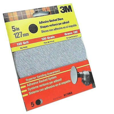 """3M Adhesive Backed Sanding Discs 120 Grit FINE 9170NA 5"""" 125 mm For Drills  PE48"""