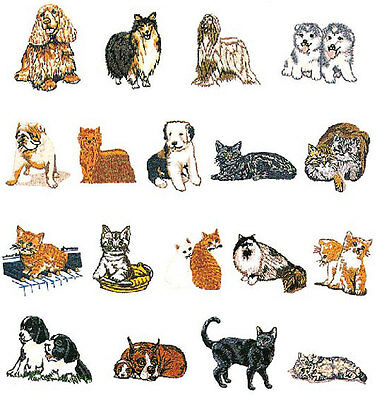 Dogs & Cats Brother Machine Embroidery Designs PES CD,USB