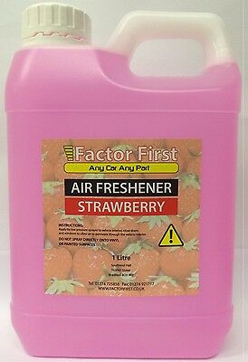 Strawberry Bottle AIR FRESHENER LIQUID CONCENTRATE 1Litre CAR VALETING Bargain