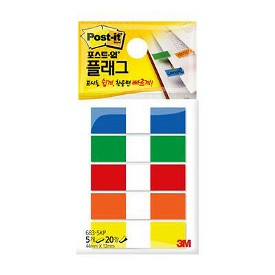 3M Post-it Flag 683-5KP 12mm*44mm 1pack 100Sheets bookmark point Sticky Note