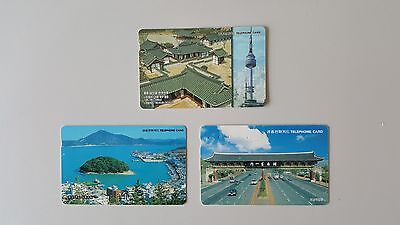 Mixed 3 used Cards from korea